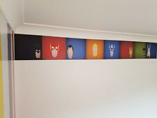 Marvel themed Superhero Wall Boarder Sticker Removable Decals Bedroom Decor