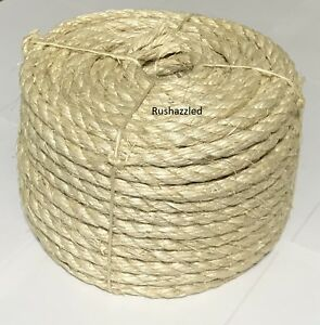 "3/8"" X 100' Natural Sisal Rope CAT SCRATCHING POST Claw Control Toy Crafts Pet"