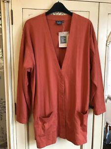 BNWT Orange Jersey Cardigan Size 14