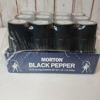 Morton Black Pepper Shakers Lot12 Pack Case New Unopened Restaurant Pantry