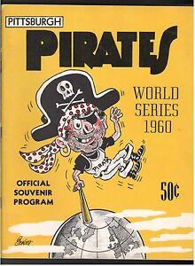 1960 PITTSBURGH PIRATES NEW YORK YANKEES WORLD SERIES PROGRAM GAME 6 SCORED