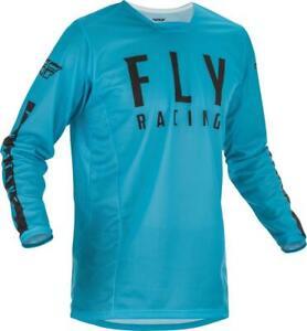 2021 Fly Racing Kinetic Mesh Jersey Adult Blue Black Motocross Offroad MX MTB
