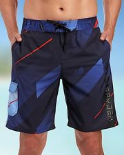 SPYDER Mens Blue Lined Drawstring Waist Board Shorts Bathing Suit NWT $70 Size M