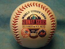 N.Y. Mets vs N.Y Yankees 2000 World Series Commemorative baseball w/ UV case