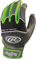 Rawlings Workhorse 950 Series Batting Gloves: WORK950BG - Men's Sizes - Graphite