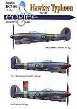 EagleCals Decals 1/24 HAWKER TYPHOON British Fighter-Bomber Part 2