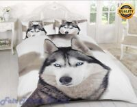 3D WOLF LUXURY PRINTED DUVET QUILT COVER BEDDING SET PILLOW CASE ALL SIZES