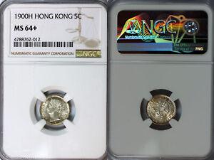 1900-H Hong Kong 5c NGC MS64+