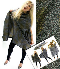 Hairdressing Cape Gown LEOPARD PRINT Salon Quality Hook Fastening Fits All Sizes