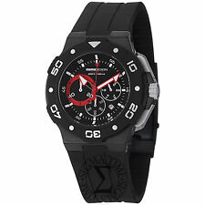 Momo Design Men's Tempest Black Dial Chronograph Strap Watch MD1004BK-01BKRD-RB