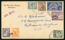 MayfairStamps Australia 1960 to Baltimore Maryland Cover wwr5707