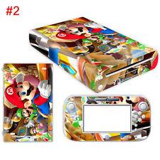 Protector Skin Sticker Cover Vinyl Nintendo Wii U for Mario 054 Decal 7 colors