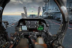 ROYAL AIR FORCE HARRIER PILOT PREPARES TAKEOFF 8x12 SILVER HALIDE PHOTO PRINT