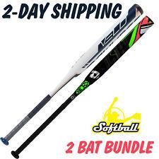 2-BAT COMBO BUNDLE> 2019 Rawlings Velo + 2015 DeMarini CF7 INSANE Fastpitch Bats