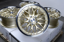 "17"" Gold Wheels Rims 5x112 E320 E550 S350 S430 Volkswagen Phaeton Passat Rabbit"