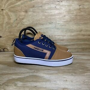 Heelys GR8 Pro Skate Shoes, Youth Size 6, Blue/Brown
