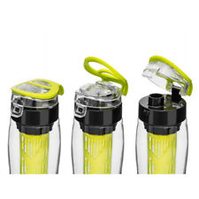 730ml Water Drinks Bottle with Fruit Infuser and Flip Lid/Plastic Juice/BPA Free