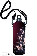 Butterfly 1L Water Bottle Insulated Neoprene Cover Storage Bag/Carrier Holder