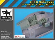 Black Dog A72076 Resin 1/72 Westland EH-101 Merlin engine REVELL