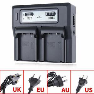 Universal USB LCD Dual Battery Charger fr Fujifilm NP-T125 GFX100 GFX50R GFX50S