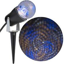 Gemmy LED Lightshow Projection Kaleidoscope Blue/White/Classic Wh Swirling Light