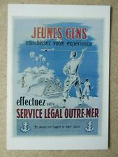CARTE POSTALE POST CARD AFFICHE ARMEE SERVICE OUTRE-MER MARINE COLONIES
