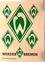 6 Aufkleber Auto + WERDER BREMEN + Grün + Waschanlagensicher Kratzfest #201814 +
