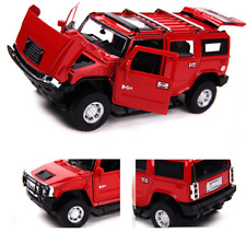 Hummer H2 Model Cars 1:32 Alloy Diecast Off-road Vehicles Sound&Light Gifts Red