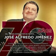 Jose Alfredo Jimenez 70 Anos 3CDs+1DVD  New Nuevo CAJA DE CARTON
