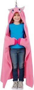 SNUGGIE Unicorn Blanket - Super Soft, All Season, Kids Hooded Wearable Robe NEW