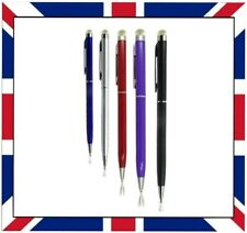 5x  2 IN 1 MICRO FIBRE STYLUS INK PEN FOR IPHONE IPAD TABLET SAMSUNG HTC ETC
