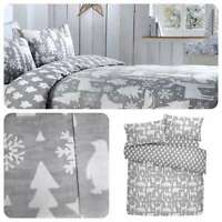 Fusion ARCTIC ANIMALS Christmas Bedding Duvet Cover Set Brushed Cotton Winter