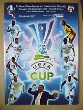 UEFA CUP PROGRAMME 2005- BOLTON WANDERERS v LOKOMOTIV PLOVDIV (ORG*,EXC)