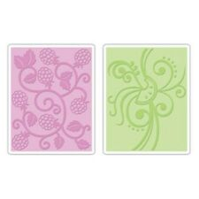 Sizzix A2 Embossing Folders 2PK - Fruit & Vine Set - 656505