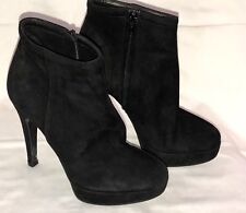 Black Suede Barneys New York Co-Op Ankle Boots In Size 35