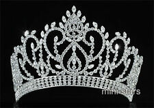 "Vintage Style Pageant Beauty Contest 4.5"" Tiara Full Circle Round Crystal T1724"