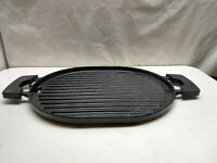 Nuwave Non Stick Cast Iron Induction Ready Grill Pan Skillet Griddle 14x10 Black