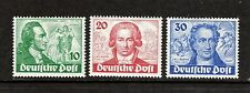 Germany - Berlin 1949 Goethe(Poet) SG B61-B63 mtd mint set of 3 - cat val  £400