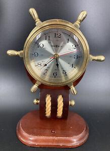 Howard Miller Britannia Clock 613-467 Brass Wood Maritime Nautical Pulley -Works