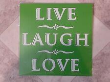 LIVE LAUGH LOVE Stencil Washable Reusable Plastic 6