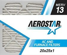 Merve Air Filter High Allergen 20x25x1 Merv 13 Aerostar Pleated Home Vent