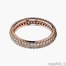 PANDORA Genuine Authentic Rose Classic Band Ring Size 52 180909CZ New