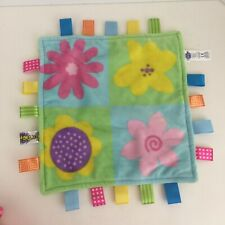 """New listing Taggies Flowers Squaress Plush Security Blanket Baby Lovey 12"""""""