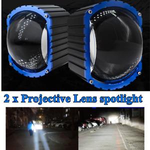 16000LM LED Car High Beam Projective Lens Fog Lamp Waterproof Spotlight Set