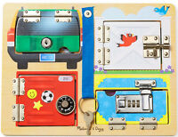 Melissa & Doug Wooden Lock and Latch Board New Toddler Child Toy Motor Skills