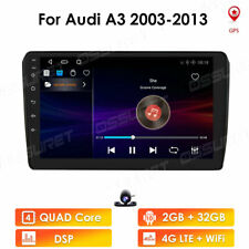 Android 10 Car Radio Player GPS Navigation Wifi For Audi A3 2003-2012 2+32G DSP