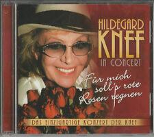 """HILDEGARD KNEF In Concert """"Für mich soll´s rote Rosen regnen"""" CD 2004 NEU & OVP"""