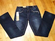Silver Aiko Slim Boot Jeans Size 31 L 31 Mid Rise Dark Wash Super Stretch NWT