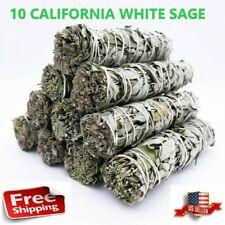 "X 10 California White Sage Smudge Sticks 4"" ( Wholesale Bulk Lot ) 10 Pack"