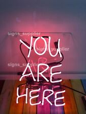 New Pink You Are Here Acrylic Neon Sign 14'' Light Lamp Wall Decor Holiday Gift